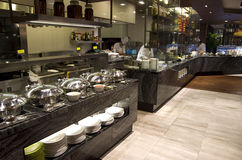 Breakfast buffet restaurant food in a hotel royalty free stock photos