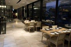 Breakfast buffet restaurant interiors Stock Image