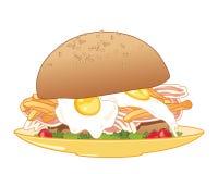 Breakfast bun Stock Images