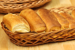 Breakfast Buns In Basket Royalty Free Stock Photos