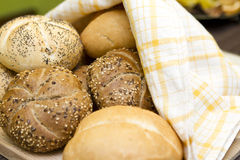 Breakfast buns rolls Stock Photography