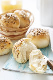 Breakfast buns with seeds Stock Photos