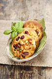 Breakfast buns with vegetables Royalty Free Stock Images