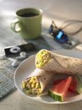 Breakfast Burito Stock Photo