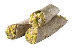 Breakfast burito - isolated w/clipping path Royalty Free Stock Photos