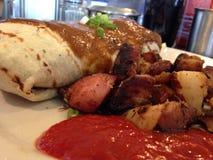Breakfast Burrito. Delicious Breakfast burrito Royalty Free Stock Photography