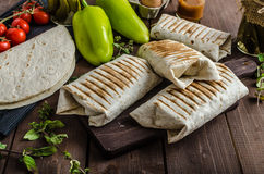 Breakfast burrito Stock Images