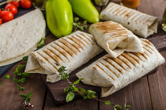 Breakfast burrito Stock Image