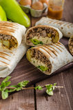 Breakfast burrito Royalty Free Stock Images