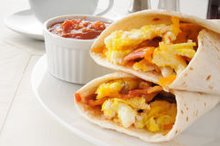 Breakfast burritos royalty free stock photo
