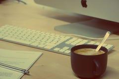 Breakfast, Business, Caffeine royalty free stock photos