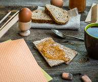 Breakfast business person Royalty Free Stock Photography