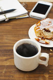 Breakfast for busy morning Royalty Free Stock Image