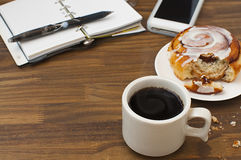 Breakfast for busy morning Royalty Free Stock Images