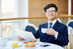 Breakfast in cafe Royalty Free Stock Photography