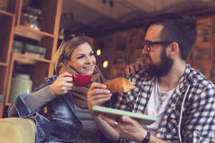 Breakfast in a cafe Stock Image
