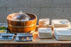 Breakfast canteen Stock Photo