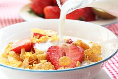 Breakfast Cereal. On the table Royalty Free Stock Photos