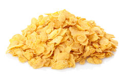 Corn flakes breakfast cereal heap Royalty Free Stock Photo