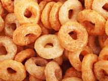Breakfast cereal. O shaped breakfast cereal close up Royalty Free Stock Photography