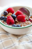 Breakfast cereal with berries Royalty Free Stock Photos