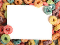 Breakfast Cereal. Border for a white page royalty free stock photography