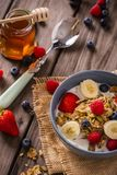 Breakfast cereal close-up portrait royalty free stock photography