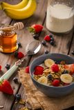 Breakfast cereal close-up portrait royalty free stock image