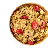 Breakfast cereal with dried fruits Royalty Free Stock Photography