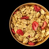 Breakfast cereal with dried fruits Stock Photo