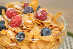 Breakfast cereal with fresh fruit Stock Photo