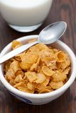 Breakfast cereal with fresh milk Stock Photo