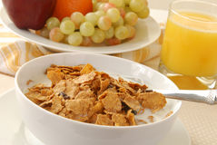 Breakfast cereal and fruit Stock Photography