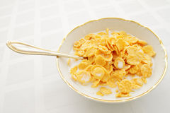 Breakfast cereal with milk Stock Images