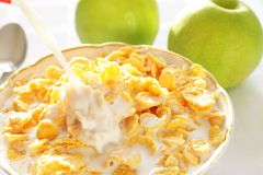 Breakfast cereal with milk Royalty Free Stock Photography