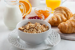 Breakfast with cereal Stock Photography