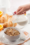 Breakfast with cereal Royalty Free Stock Photos