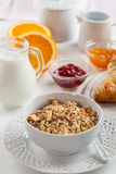 Breakfast with cereal Stock Photos