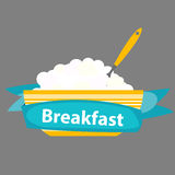 Breakfast Cereal Oatmeal, Icon in Modern Flat Style Vector Illus Royalty Free Stock Photo