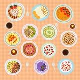 Breakfast cereal porridge vector illustration. Stock Images
