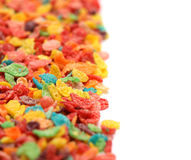 Breakfast Cereal. A solid background of kid's breakfast cereal Stock Image