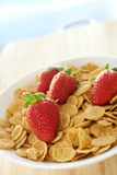 Breakfast cereal with strawberries Stock Photos