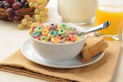 Breakfast cereal and toast Royalty Free Stock Photos