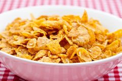 Breakfast cereal in a white bowl Royalty Free Stock Images