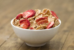 Breakfast Cereal. On a wooden background Stock Photos