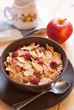 Breakfast cereals and apple Stock Images