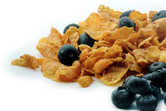 Breakfast cereals with blueberries. Image of breakfast cereals with blueberries Royalty Free Stock Photo