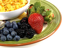 Breakfast Cereals and Fruit Stock Image