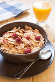Breakfast cereals and orange juice Stock Photography