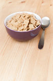 Breakfast cereals on wood Stock Images